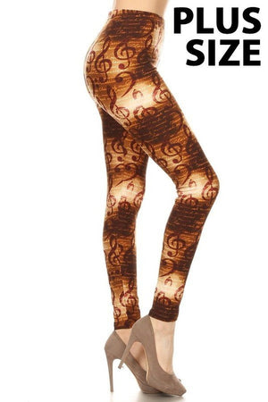 7 Patterns - Buttery Soft Lounge Legging in Plus Sizes - You-nique Bou-tique