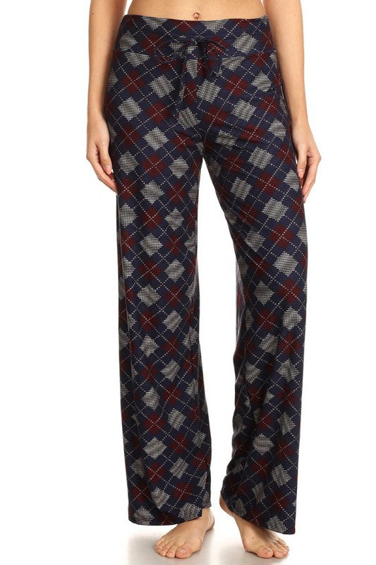 Diamonds - Buttery Soft Lounge Pant with Drawstring Waist - You-nique Bou-tique