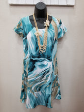 Cap Sleeve Dress in Turquoise in Swanton