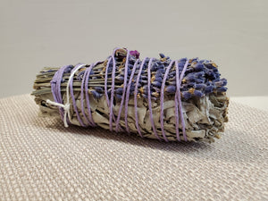 Beautiful White Sage Bundle Wrapped in Lavender - You-nique Bou-tique