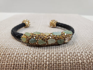 Moldable Natural Gem Bracelet in Shipshewana