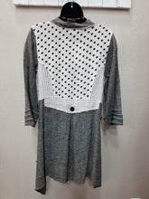 Distressed Mixed Grey Button Down Top/Jacket in Swanton - You-nique Bou-tique