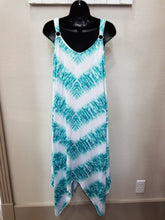 2 Color Ways - One Size Chevron Bling Sun Dress with Asymmetrical Hemline in Swanton & La Porte