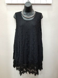 2 Color Ways - Layered Lace Top