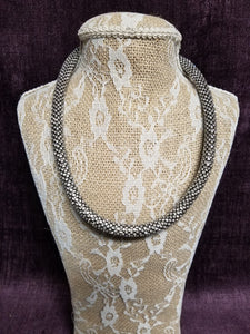 Rope of Solid Crystals Set in Black in Swanton - You-nique Bou-tique