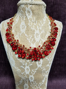 Stunning Ruby Wine Necklace in Gold in Swanton - You-nique Bou-tique