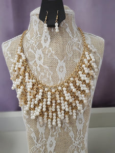 Pearls of Many Dangle in Gold in Shipshewana - You-nique Bou-tique
