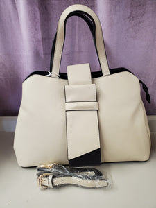 Structured Handbag in Taupe in Shipshewana - You-nique Bou-tique