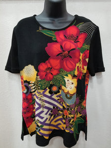 4 Color Ways - Casual Floral Print Top in Swanton - You-nique Bou-tique