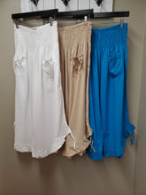 5 Color Ways - One Size Basic Cotton Pant with Adjustable Gathered Side Hem - You-nique Bou-tique