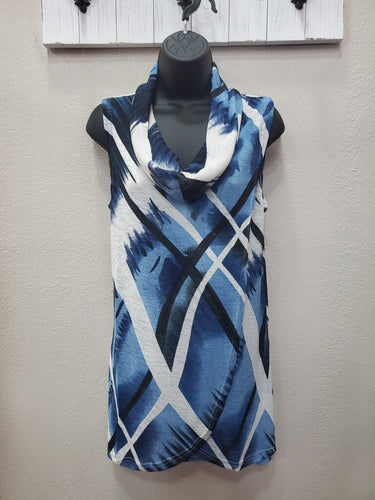 Sleeveless Cowl with Graphic Print in Swanton - You-nique Bou-tique