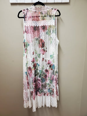 4 Color Ways - Stunning Lace Vest with Sublimation Printing - You-nique Bou-tique