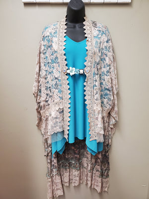 2 Color Ways - Fabulous One Size Lace Duster with Sleeves - You-nique Bou-tique