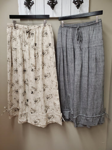 2 Color Ways - Linen Pants with Pockets & Drawstring Waist in Shipshewana - You-nique Bou-tique
