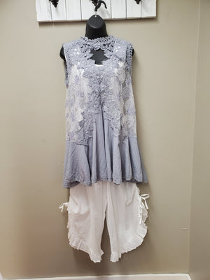 Super Flattering Sheer Lace Tunic - You-nique Bou-tique