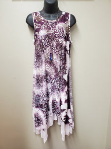 Beautiful Layered Dress in Plum - You-nique Bou-tique