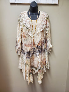 Lace Jacket with Sublimation Printing - You-nique Bou-tique