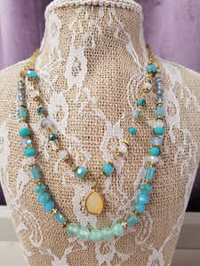 Dainty Double Strand Necklace Set in Gold - You-nique Bou-tique