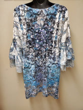 Stunning Sheer Lace Top with Sublimation Print & Ruffle Sleeve - You-nique Bou-tique