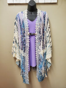 Stunning Sheer Lace Duster with Sublimation Printing - You-nique Bou-tique