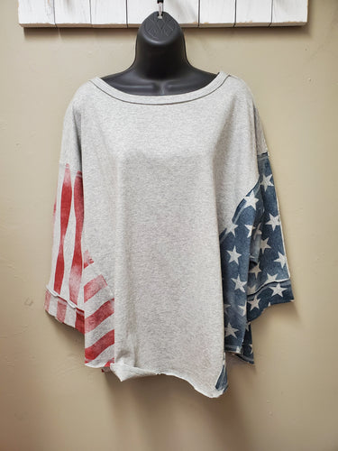2 Color-ways Lightweight Patriotic Sweatshirt - You-nique Bou-tique