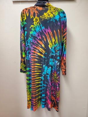 Super Fun Long Tie Dye Cardigan - You-nique Bou-tique
