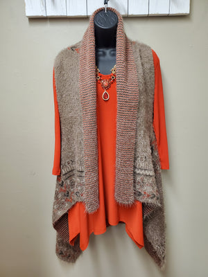 3 Color Ways - So Warm & Cozy Sweater Vest - You-nique Bou-tique