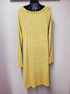 Long Sleeve Mustard Dress with Pockets & Perfect for Layering - You-nique Bou-tique