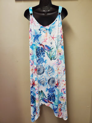 One Size Summer Dress with Adjustable Straps - You-nique Bou-tique