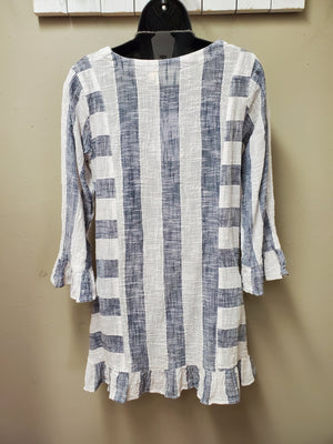 Lovely Linen Gauze Tunic with Pockets - You-nique Bou-tique