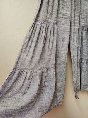 2 Color Ways - Linen Pant with Elastic Waist with Gathers & Pockets - You-nique Bou-tique