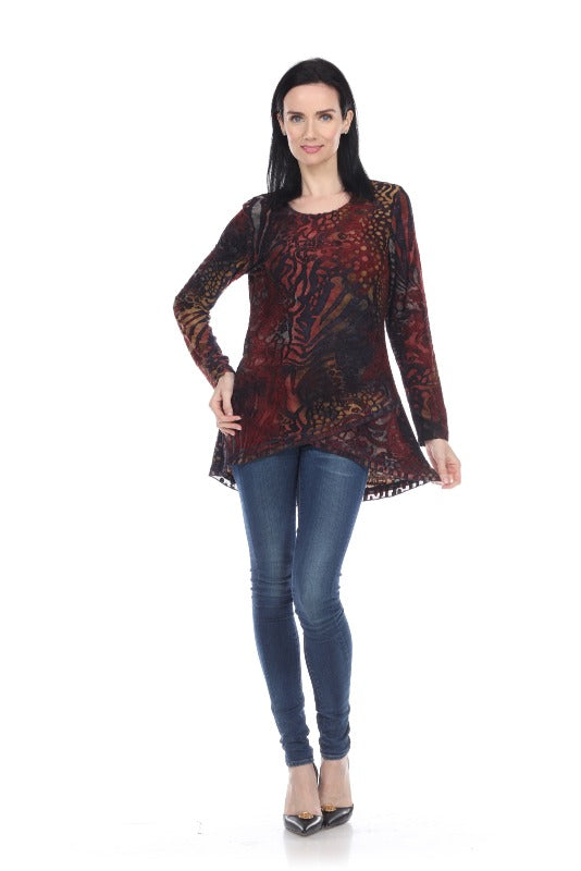 Fun & Unique Layered Hem Multi Color Tunic - You-nique Bou-tique