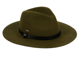 4 Color Ways of a Banded Fedora with Adjustable Band Inside - You-nique Bou-tique