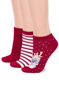 3-Pack of Women's Fun Fashion Ankle Socks - You-nique Bou-tique