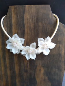 Floral Necklace with Crystal Centers in La Porte