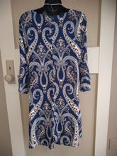 Paisley Dress in Navy & Light Coral in La Porte - You-nique Bou-tique
