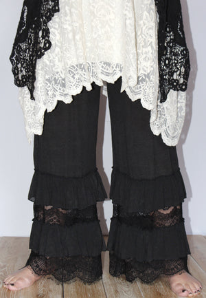 Lace Panel Pant - You-nique Bou-tique
