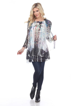 Peacock Lovers - Top that Looks Like a Jacket - You-nique Bou-tique
