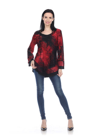RESTOCKED - Drop Dead Red & Rich Black Tunic - You-nique Bou-tique