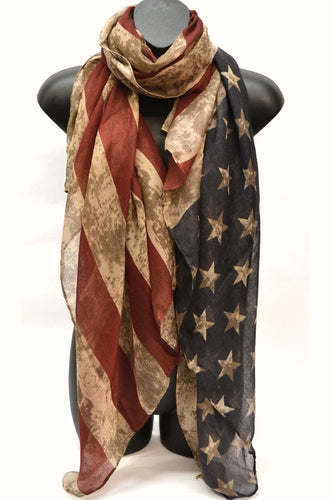 Patriotic Vintage Americana Scarf - You-nique Bou-tique