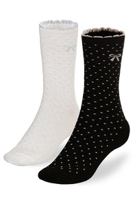 2-Pack of Women's Fun Fashion Crew Socks - You-nique Bou-tique