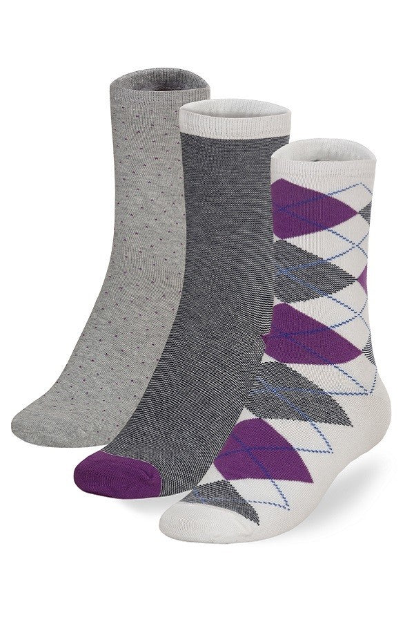 3-Pack of Women's Fun Fashion Crew Socks - You-nique Bou-tique