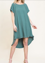 BEST SELLER- 5 Color Ways - High Low Dress with Cute Detail on Back in Swanton & La Porte