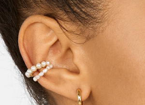 2 Color Ways - Choose Your Favorite Pearl Ear Cuff - You-nique Bou-tique