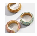 3 Color Ways - Wide Pave' Set Rhinestones Ear Cuff - You-nique Bou-tique