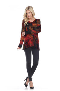 Beautiful Autumnal Colors Make this Tunic a Showstopper