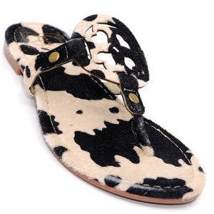 Cow Print Sandal - You-nique Bou-tique