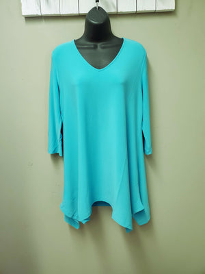 BEST SELLING COLORS - Flattering Fit & Flair Tunic with 3/4 Sleeve - You-nique Bou-tique