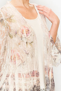 Stunning Lace Jacket with Pont Vecchio Bridge Sublimation - You-nique Bou-tique