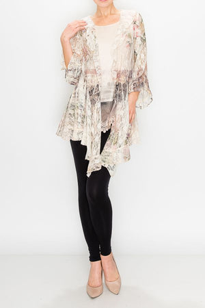 Stunning Lace Jacket with Sublimation Printing - You-nique Bou-tique